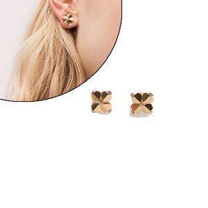 Kate Spade Four Leaf Clover Heart Earrings
